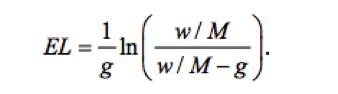 Formula to calculate how long a portfolio will last.