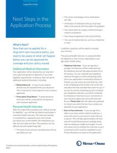 Mutual of Omaha   Next Steps in the LTC Application Process