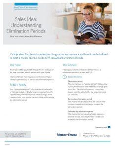 Sales Idea: Understanding Elimination Periods