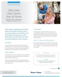 Omaha Help Clients Stay at Home brochure image