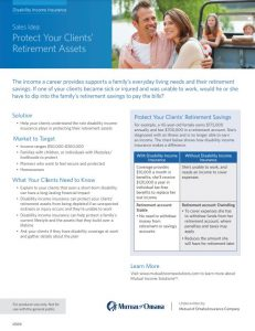 Disability Income   Protect Your Clients' Retirement Assets